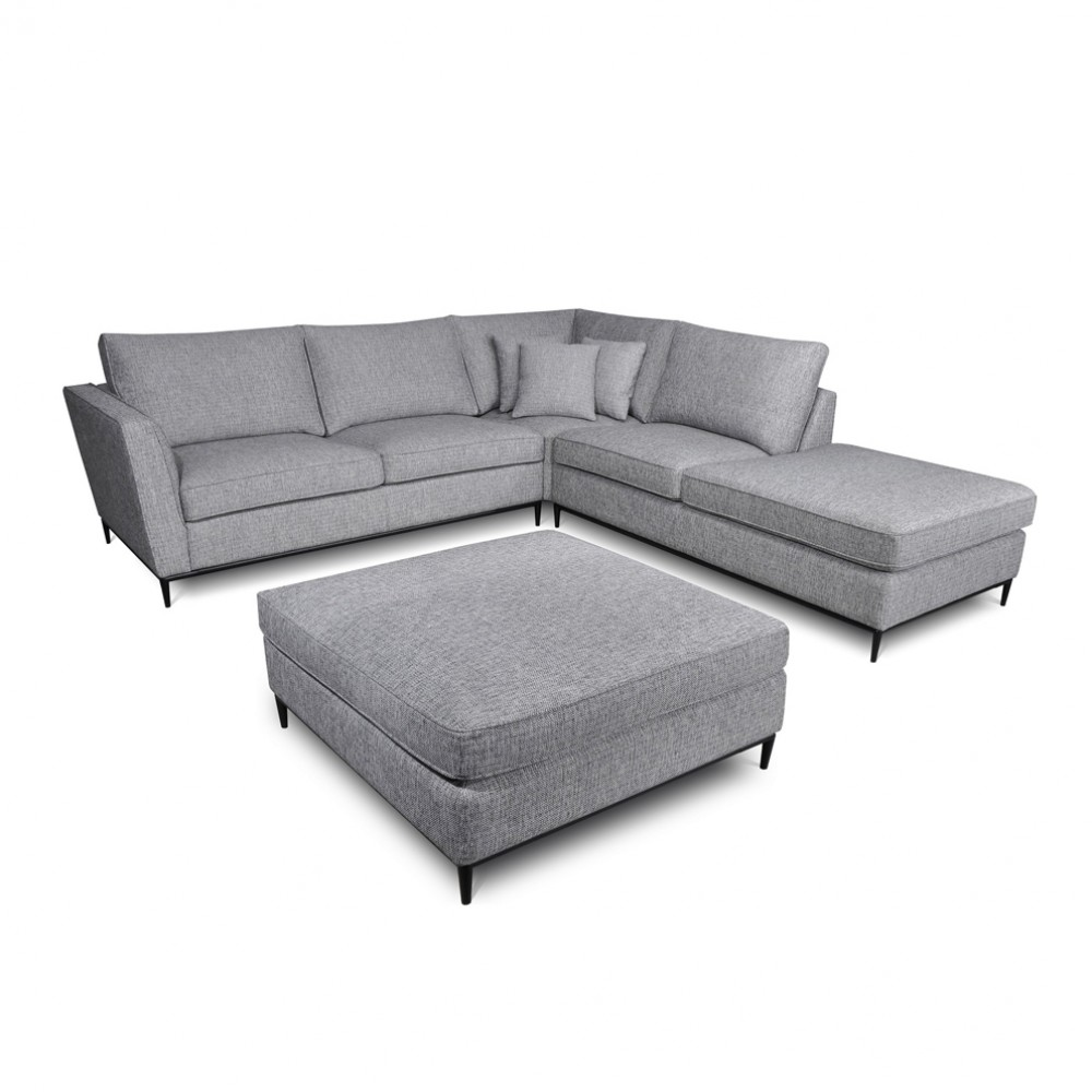 Raven 5 Seater Corner Chaise And Ottoman