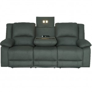Captain Theatre Three Seater Lounge Powered Recliner With Tray