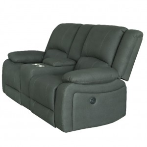 Captain Theatre Two Seater Lounge Powered Recliner With Console