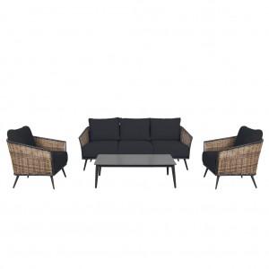 Boulevard 3 Seater 4 Piece Lounge Suite
