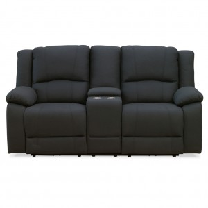 Captain Theatre Two Seater Lounge Manual Recliner With Console