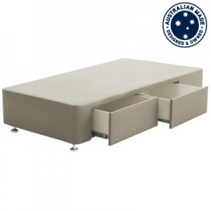 Deepline Long Single Bed Base with 2 Drawers