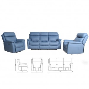 Wyatt Three Seater Power Twin Recliner