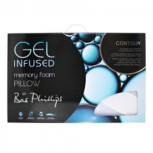Gel Infused Memory Foam Contour Pillow by Bas Phillips