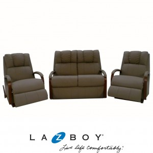 Harbor Town 3 Piece Lounge Suite (3 Seater Glideaway and Two Rocker Recliners)