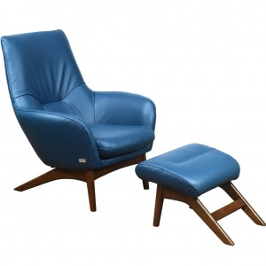 Hermes Rocking Chair and Footstool