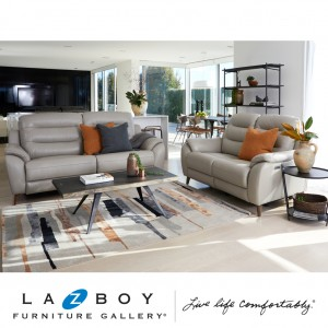 Vermont 3 Piece Lounge Suite (3 Seater Twin Power Recliner and 2 Power Recliners With Power Headrests)
