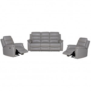 Moscow Leather Recliner Suite