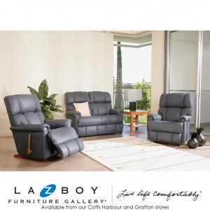Pinnacle 3 Piece Lounge Suite (3 Seater Glideaway with Tray and Two Rocker Recliners)