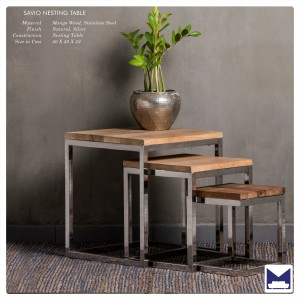 Savio Nest of 3 tables