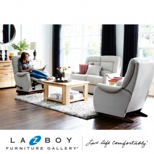 Serenity 3 Piece Lounge Suite (2 Seater and Two Rocker Recliners) Fabric Upholstery