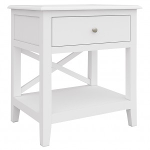 Hampton 1 Drawer 1 Shelf Side Table