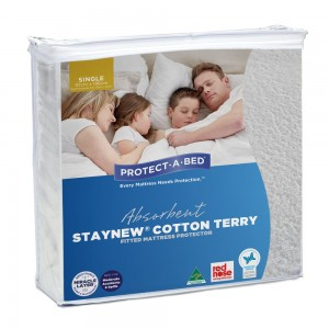 Cotton Terry Mattress Protector - Single