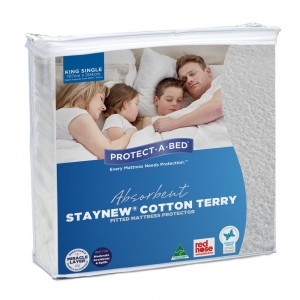 Cotton Terry Mattress Protector - King Single
