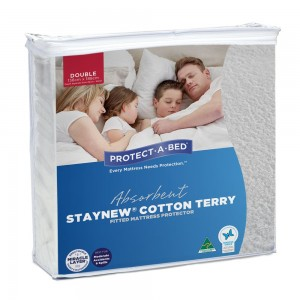 Cotton Terry Mattress Protector - Double
