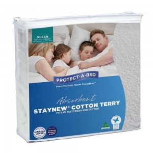 Cotton Terry Mattress Protector - Queen