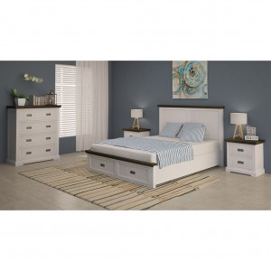 Hampshire Two Drawer Bedside