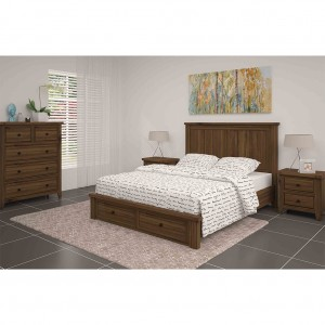 Leura King Single Bed With Storage