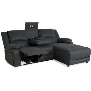 Captain 3 Seater With Chaise And Powered Recliner