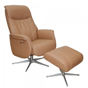Cartier Recliner Chair & Footstool