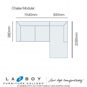 Martelli 2 Piece Corner Modular (2.5 Seater LHF, Chaise with Corner RHF)