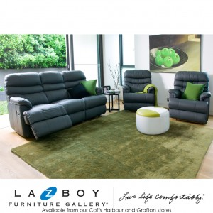 Cortland 3 Piece Recliner Suite (3 Seater Twin Recliner and Two Recliners)