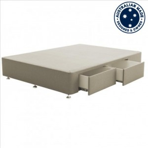 Deepline Double Bed Base with 2 Drawers