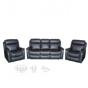 Garner Three Seater Twin Recliner