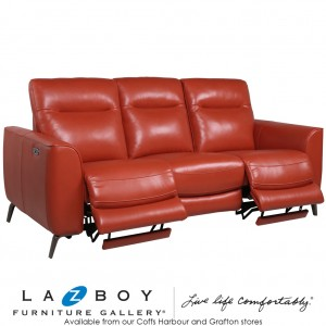 Colorado 3 Seater Twin Power Recliner With Power Headrests