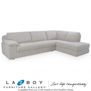 Euro 2 Piece Corner Modular, (3 Seater LHF and Chaise with Corner)