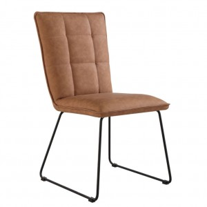 Panel Back Chair with Angled Legs