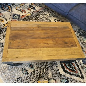 Reclaimed Coffee Table with wheels