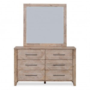 Santa Fe 6 Drawer Dresser & Mirror