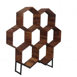 Sheesham Hex Bookcase