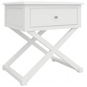 Hampton 1 Drawer Cross Leg Table